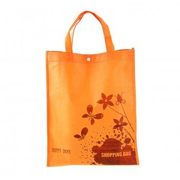 Сумка хозяйственная shopping bag, цвет оранжевый