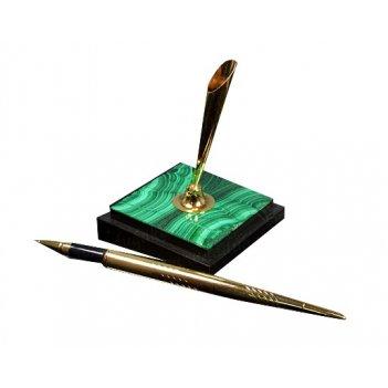 Подставка с ручкой из малахита