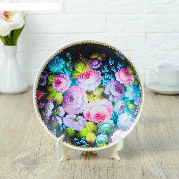 Тарелка декоративная «жостово», d = 19,5 см