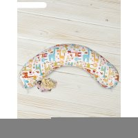Наволочка на подушку для беременных, размер 25 x 170 см, принт жирафики