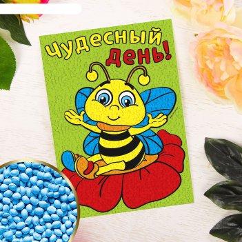 Аппликация мягкими гранулами «пчёлка» 21 х 29,7 см