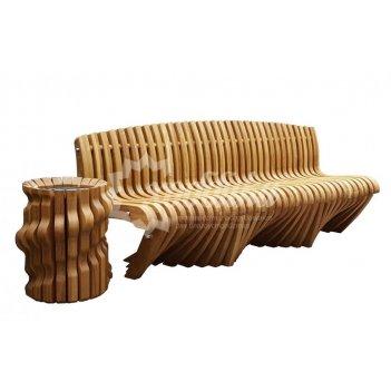 Параметрическая скамейка с урной «диалог»