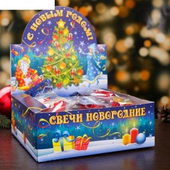 Свеча в гильзе новогодний микс 30шт/уп