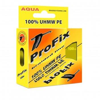 Леска плетёная aqua profix olive, d=0,08 мм, 100 м, нагрузка 4,1 кг
