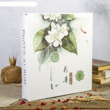 Фотоальбом на 700 фото 10х15 см белая сакура в коробке 36,6х33,8х6,5 см