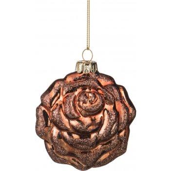 Декоративное изделие шар стеклянный 8*9*4 см. цвет: коричневый (кор=96шт.)