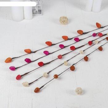 Декор ветка лоза шишки 104 см (фасовка 10 шт., цена за 1 шт.), микс