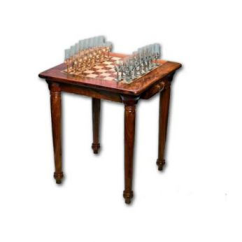 Стол шахматный с фигурами «крестовый поход»