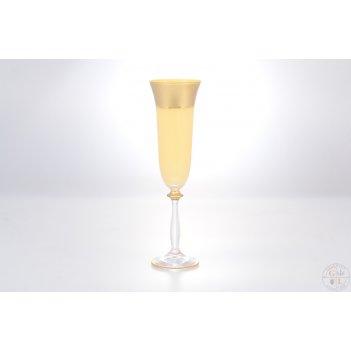 Анжела набор фужеров для шампанского as crystal матовая полоса анжела 190