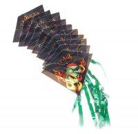 Воздушный змей злодей 10 пластинок на нитке и леска