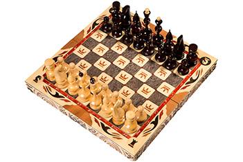 """Шахматы резные ручной работы """"с гербом"""" средние (россия,"""