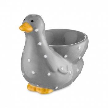 Подставка для яиц, размер: 7,5 х 6,4 см, материал: доломит, цвет: серый, с
