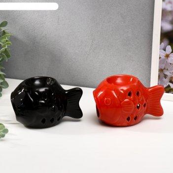 Аромалампа керамика рыбка  7,8х13,2х9 см