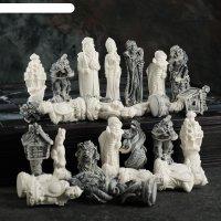 Фигуры шахматные русские сказки комплект 32штх11см