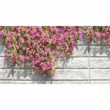 Фотобаннер, 300 x 200 см, с фотопечатью, «стена с цветами»
