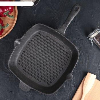 Сковорода-гриль 28х5,5 см гриль глубокий, с 2 сливами