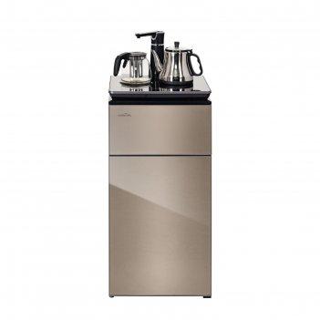 Кулер для воды hiberg f-91fgy, напольный, нагрев и охлаждение, 1350/70 вт,