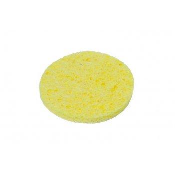 Спонж puff21-sw круглый (7,5x7,5) для снятия макияжа, натур. целлюлоза