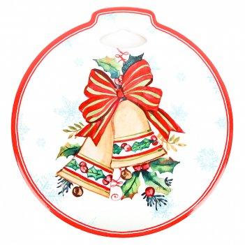 Подставка под горячее с пробкой новогоднее украшения 20*21*0.5см. (3вида)
