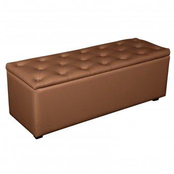 Банкетка монако-2 1210х420хн430 экокожа коричневый