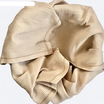 Плед-пелёнка, размер 100 x 100 см, принт gold sand