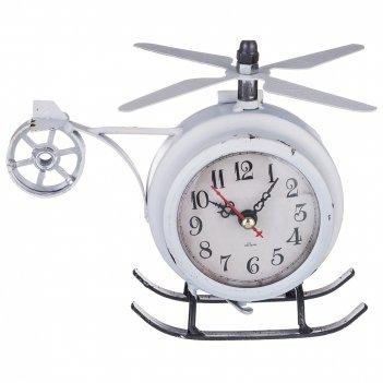 Часы настольные (кварцевые) вертолет 11,7*18*14,5 см диаметр циферблата=7