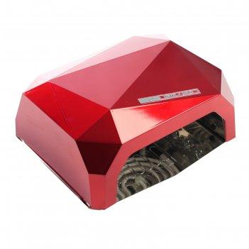 Лампа для гель-лака luazon luf-06, uv-led, 36 вт, быстрая сушка,красная