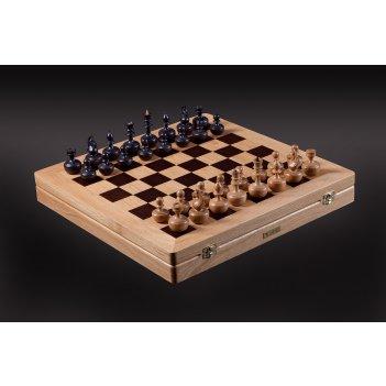Шахматы дизайнерские от карпова светлый дуб - мореный дуб
