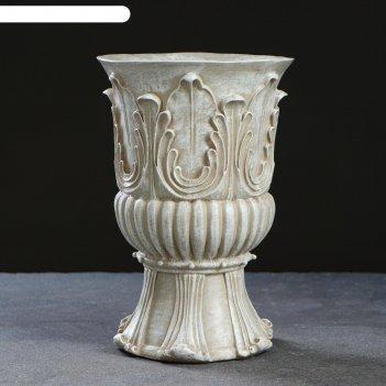 Фигурное кашпо античная ваза №3 25х17 см