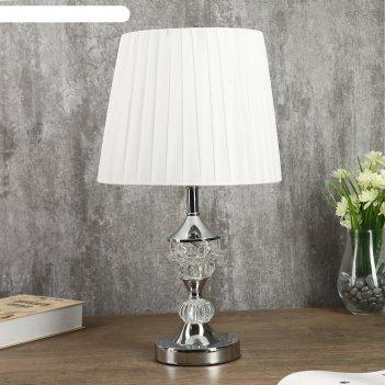Лампа настольная с подсветкой адорно 1х40вт е27 серебро 24х24х43 см.