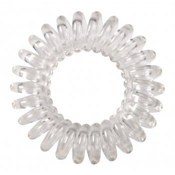 Резинки для волос dewal beauty пружинка, цвет прозрачный (3 шт