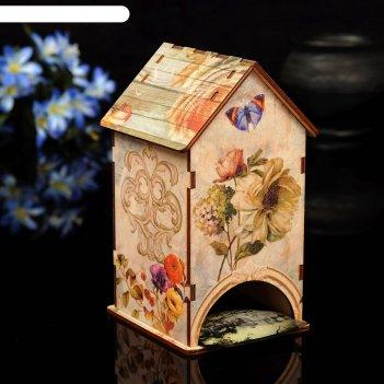 Чайный домик винтаж с уф-печатью, 8,5х9,5х16см