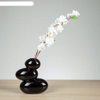 Ваза сбалансированные камни чёрные