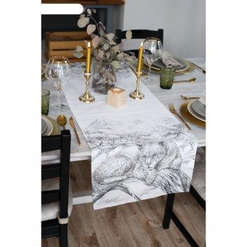 Дорожка на стол сафари 40*146 см, 100% хл, саржа 190гр/м2