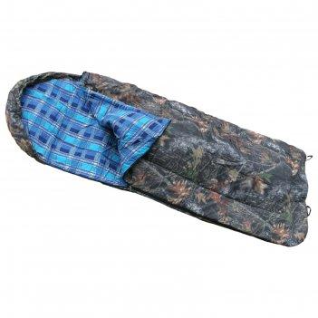 Спальный мешок с подголовником одеяло, комбинированный, размер 80 х 180 см
