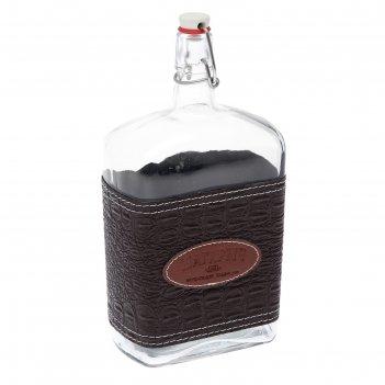 Бутыль 1,75 л магарыч. викинг с пробкой, коричневая кожа
