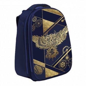 Рюкзак каркасный calligrata колибри 37*28*19 мал сова_синее золото