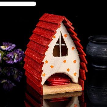 Чайный домик домик лисицы, 14*14*21см; материал: дуб, сосна; покрытие: акв
