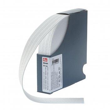 Эластичная лента для уплотнения шва 30 мм 10м, цвет белый