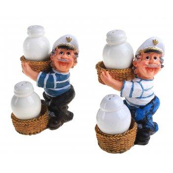 Набор для специй моряк с корзинами, 2 предмета на подставке, цвета микс