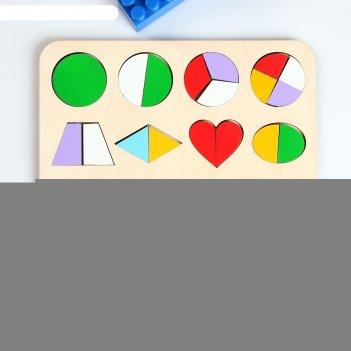 Сортер геометрические фигуры - часть и целое