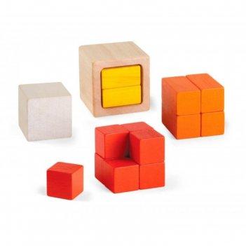 Деревянные кубики дроби