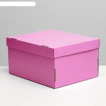 Складная коробка, сиреневая, 31,2 х 25,6 х 16,1 см