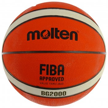 Мяч баск. molten b5g2000 (р.5), 12 панелей, резина, бутил.кам,нейлон,корд,