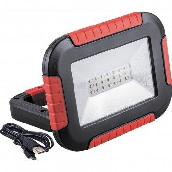 Прожектор светодиодный аккумуляторный tl911, 10w, 6400k, 21*smd2835, ip44