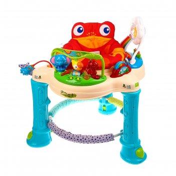 Ходунки детские 2 в 1 «лягушонок», игровой центр 360 градусов, выдвижные к