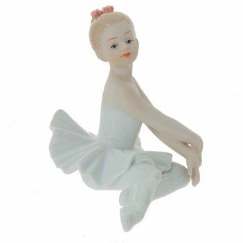 Фигурка декоративная балерина, l13 w9,5 h11 см