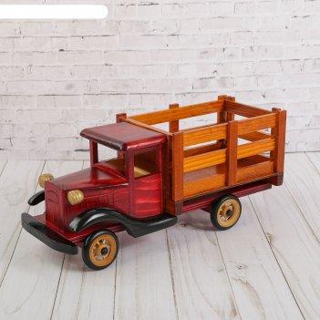 Сувенир дерево ретро. грузовичок 13х30,5х10 см
