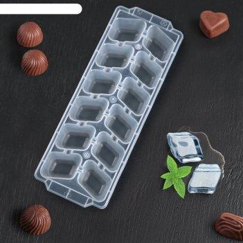 Форма для льда, 12 ячеек, размер 26*9,5*3,5 см