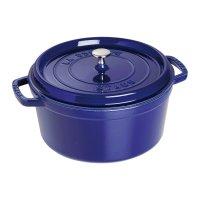 Кокот круглый, объем: 3,8 л, диаметр: 24 см, материал: чугун, цвет: темно-